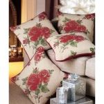 Set of 4 Rose Cushion Covers