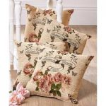 Pack of 4 Jacquard Cushion Covers