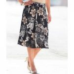 Printed Skirt with Panels