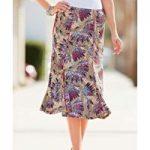 Jersey Print Skirt