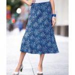 Pleat Print Skirt