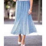 Spot Pleat Skirt