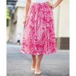 Crinkle Print Skirt