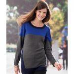 Colour Block Tunic Sweater