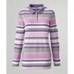 Striped Button Neck Sweatshirt