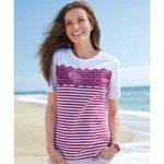 Striped Lace T-shirt