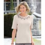 Embroidered Round Neck Top