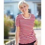 Stripe Crinkle T-shirt