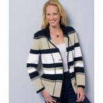 Stripe Knitted Jacket