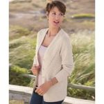 V-neck Cable Cardigan