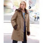 Imitation Fur Trim Coat